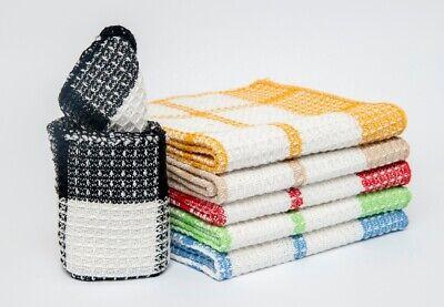 Dish Cloth 12 Pcs 13x13 100% Cotton Dish Towel Swedish Dishcloth