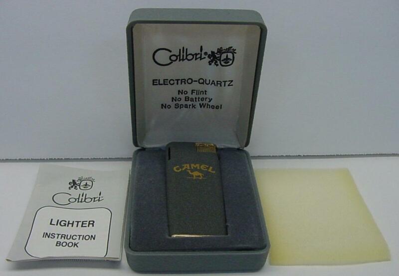 Vintage NOS Rare Colibri Electro-Spark Butane Camel Cigarette Lighter AS-IS READ