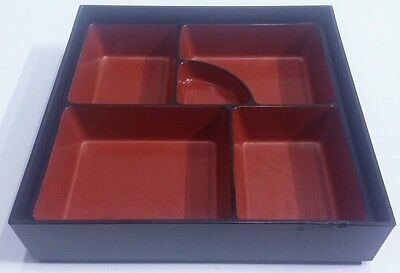 Japanese Bentoobento Lunch Box Tray Lacquered Plastic No Lid Restaurant Supply
