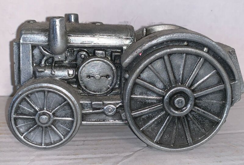 Metal 1920 Farm Tractor Coin Bank - By Banthrico Inc - Vintage 1970