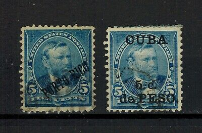 1899 US/Puerto Rico Stamp - Sc#PT212 – 5c blue, perf 12 - Used