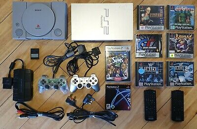 Playstation 1 and Playstation 2 with games plus accessories