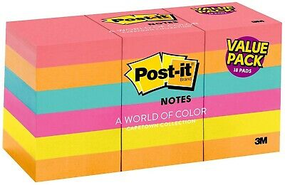 Sticky Notes Post It Pad Memo Flags Bookmark Marker Tab Sticker Sheets Pack 18