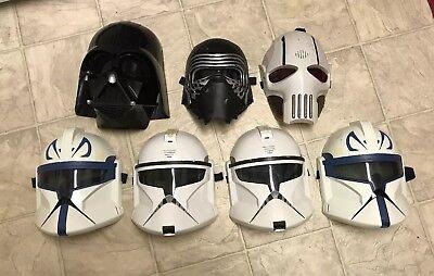 Lot 7 Star Wars Mask Darth Vader Clone Trooper General Grievous Talking Sound - Star Wars General Grievous Mask