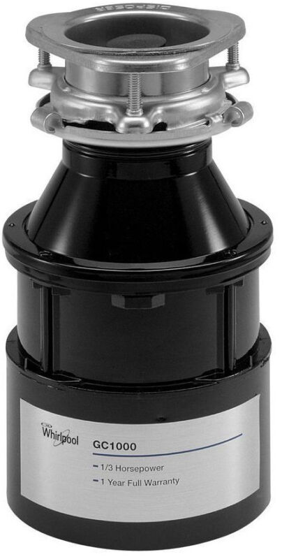 NEW Whirlpool 1/3HP Continuous Feed Garbage Disposer Disposal GC1000PE 84211600