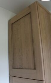 New in packaging Real Oak wood kitchen cupboard bathroom cabinet door 715x597mm British made Horsell
