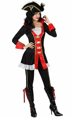 Costume Woman PIRATE XS/S 36/38 Captain Red Black NEW Cheap](Cheap Womens Pirate Costume)