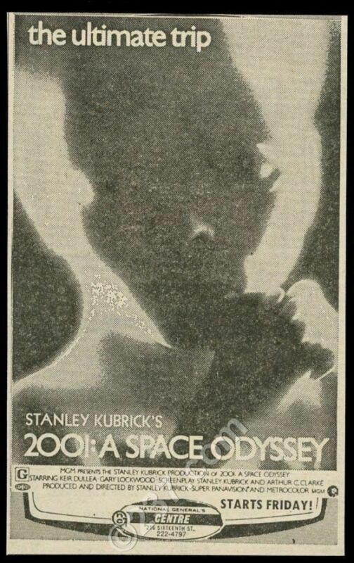1970 2001 A Space Odyssey Stanley Kubrick movie baby photo vintage print ad