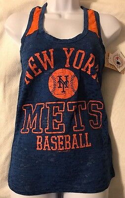 New York Mets Women's Team Racer Back Tank Top - Shear Fabric (Various -