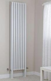 White Vertical Designer Double Panel Radiator with Feet 2000mm x 472mm - new