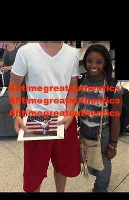 Simone Biles Signed 8X10 Photo C W Coa 2016 Rio Olympics Gold Gymnastics Proof
