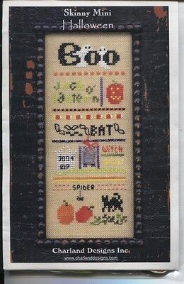 Charland Designs Skinny Mini Halloween Chart/Charm/Threads trsb
