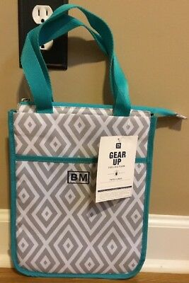 Preppy School Supplies (NEW Pottery Barn Teen POOL Gear Up Lunch Tote PREPPY DIAMOND Monogram)
