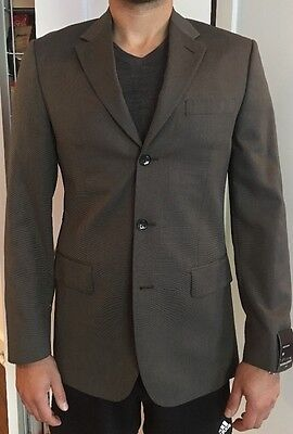Banana Republic - brown patterned, three-button blazer, size 38R, new with tags