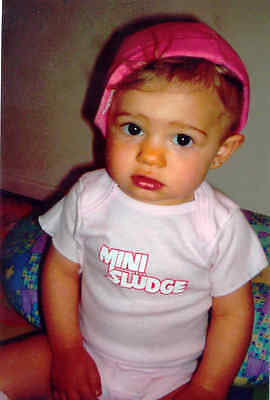 Rock N' Roll Mini Sludge Onesie +Bib Girls Soft Pink Baby Blue Boys Hairband 80s Rock Roll Baby Onesies