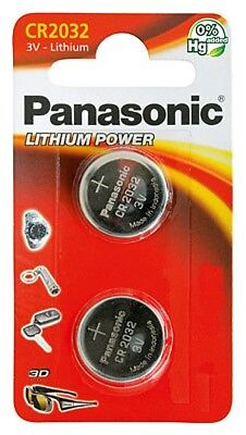 Cr2032-lithium-batterie (2x CR2032 Lithium-Batterie 3,0 Volt ø 20x3,2mm 3V Blisterpack Panasonic)