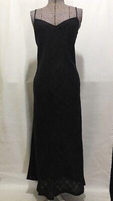 Mario's for Women Designer Black Linen Long Design V Neck Straps Size 10 Gala