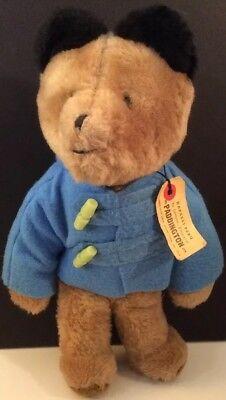 """14"""" Paddington Bear Plush Doll 1975 Eden Toys Darkest Peru to England """"D"""""""