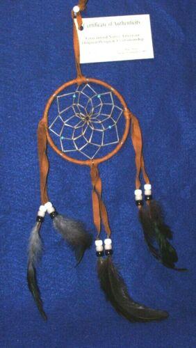 """Native American Dreamcatcher Navajo Indian  4"""" dia hoop BROWN #106"""