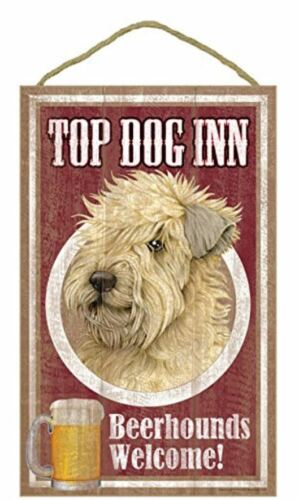 "Top Dog Inn Beerhounds Wheaten Terrier Bar Sign Plaque dog 10"" x 16"" Beer"
