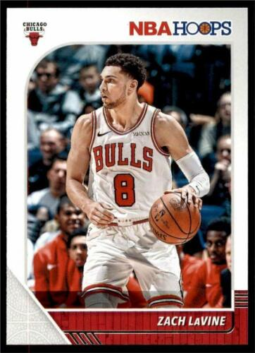 2019-20 Panini NBA Hoops Base #25 Zach LaVine - Chicago Bull