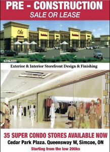 FUTURE PLAZA OFFERS PRECONSTRUCTION SALE OF STORES IN SIMCOE ON