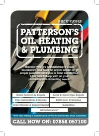 Plumbing, Oil Heating repairs and maintenance. Boiler Service & Repair.