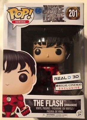 Funko Pop The Flash Unmasked Dc Comics Justice League Regal Cinema 3D Exclusive