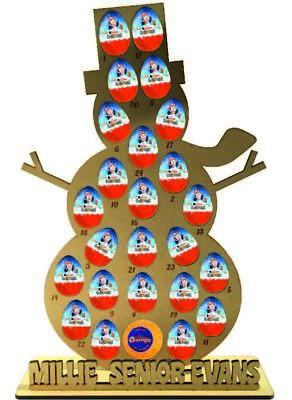 Advent Calendar Personalised Snowman Kinder Egg Terrys Chocolate Orange