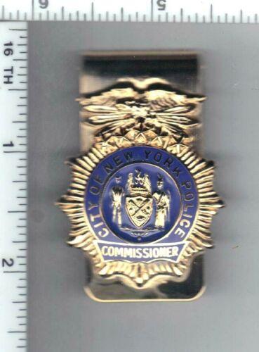 New York City Police Commissioner Money Clip with 1-inch Commissioner Mini (RARE