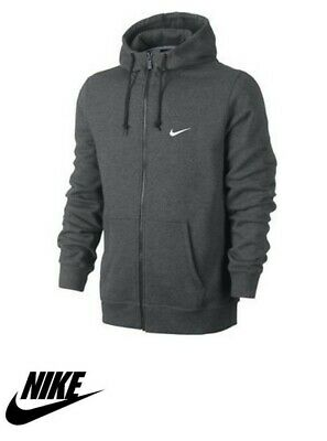 Mens Nike Hoodie (*BRAND NEW*) Pullover Hoody Top Fleece Jumper Dark Grey