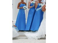 SET OF 3 BRIDESMAIDS DRESSES TURQUOISE