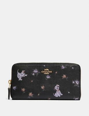 NWT Disney X Coach Accordion Zip Wallet With Dalmatian Floral Print 91743 $278