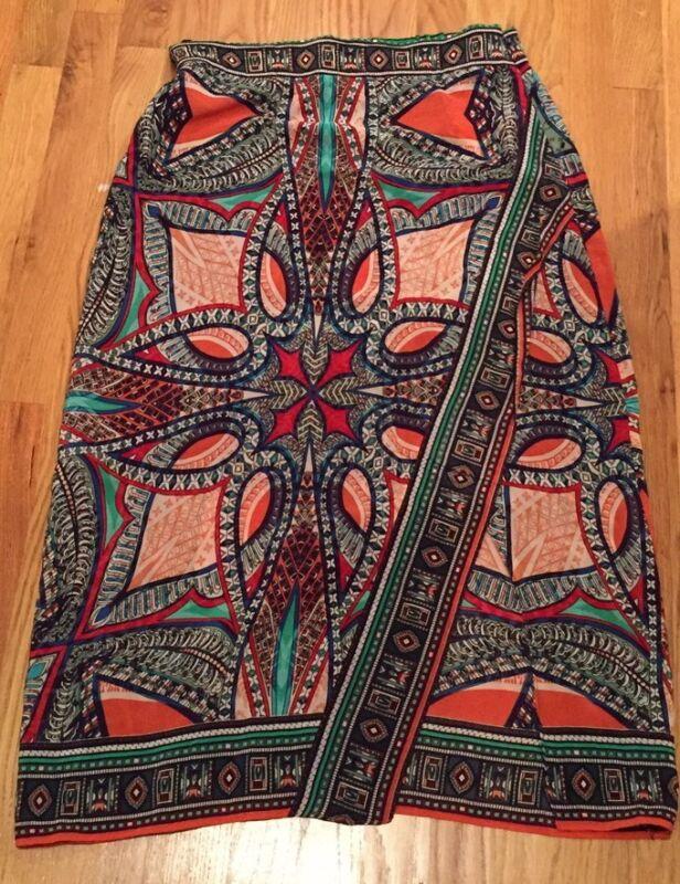 Anthropologie Maeve Midi Skirt With Slit