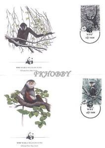 Vietnam 1987 Mi FDC 1827-30 WWF Animals Pets Tiere Monkeys Affe Chimpanzee Małpy - Dabrowa, Polska - Vietnam 1987 Mi FDC 1827-30 WWF Animals Pets Tiere Monkeys Affe Chimpanzee Małpy - Dabrowa, Polska