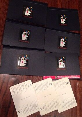 6 Scattergories Replacement Folders Books Navy 18 Category Cards MB 1988 Game for sale  Taylors