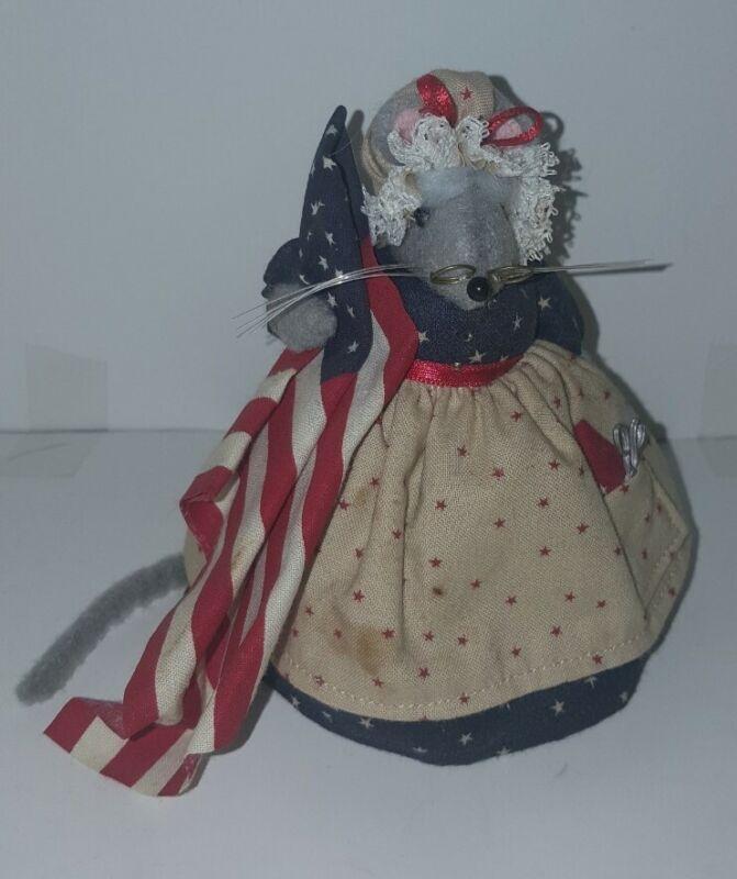 Maus Haus patriotic Mouse Folk Art Handmade 1980,Diana Boud