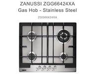 Zanussi stainless steel gas hob