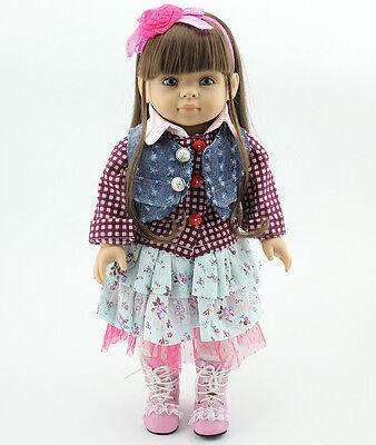 18'' Handmade Lifelike Baby American Girl Silicone Vinyl Reborn Newborn Doll 011