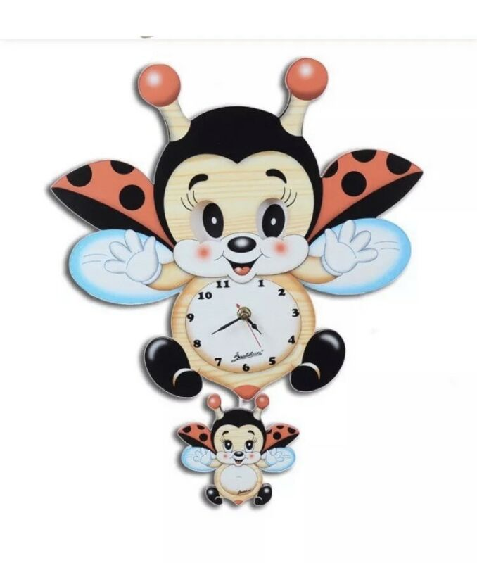 Bartolucci Wooden Clocks With Different Styles Moving Eyes. Cute Baby Room Decor