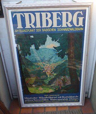 altes Plakat Triberg Höhenluftkurort