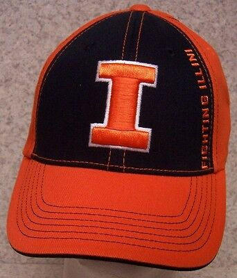 Embroidered Baseball Cap NCAA Illinois Fighting Illini NEW 1 hat size fits all