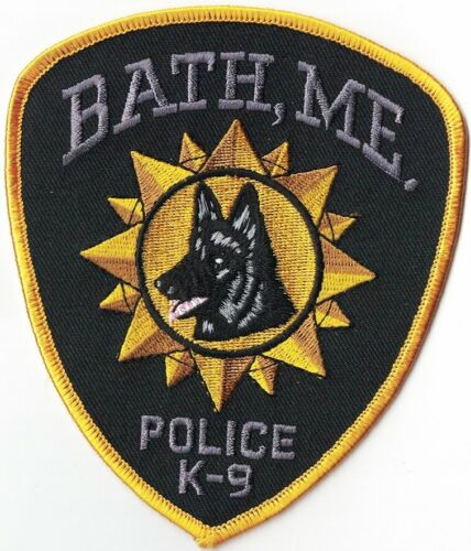 Bath Police Maine K9 Canine Police Maine ME Police Patch