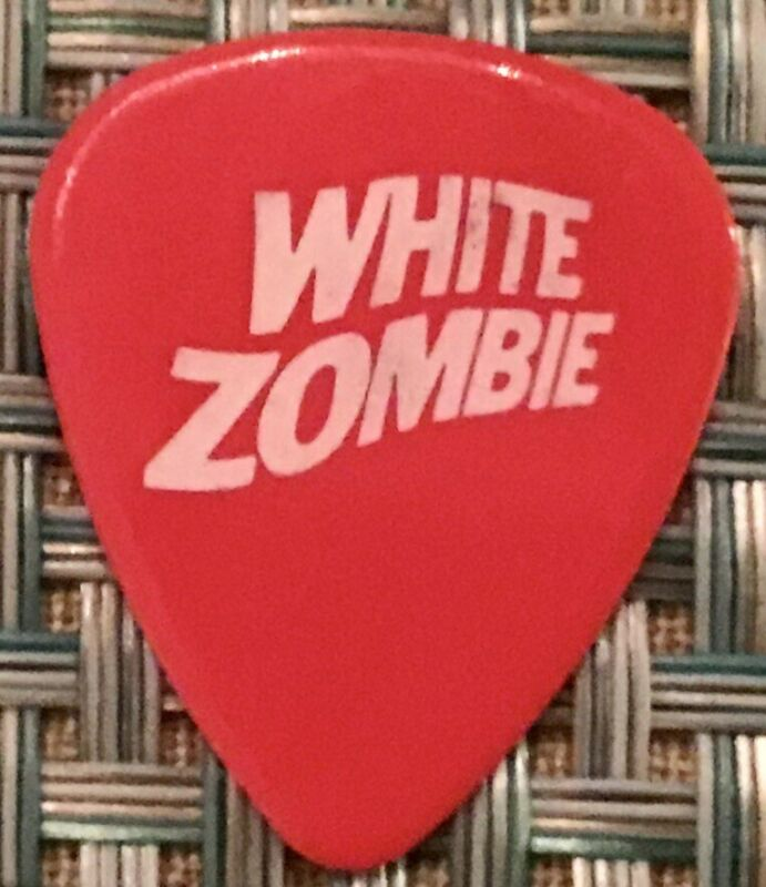 White Zombie Jay Younger Robot Tour Issued Guitar Pick Red