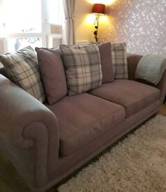 Two Piece Suite Sofa. Four seater and three seater