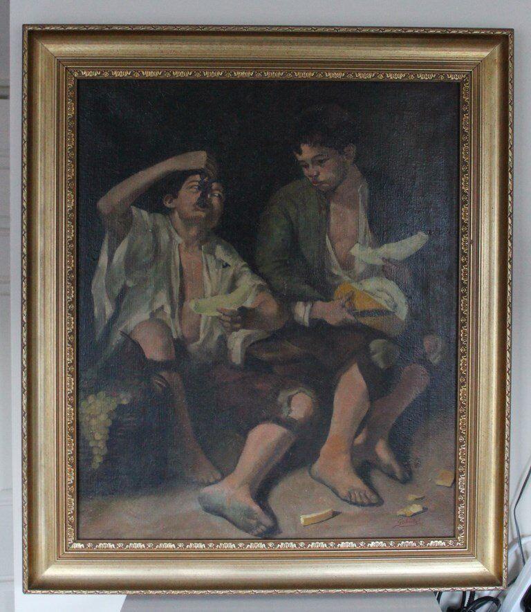 """Boys Eating Fruits"" Bartolome Esteban Murillo by Gabris. House clearance sale!"