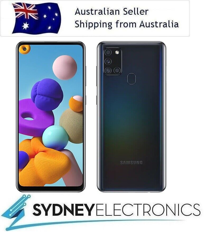 """Android Phone - New! Samsung Galaxy A21s 6.5"""" Black Mobile Phone Smartphone 32GB"""