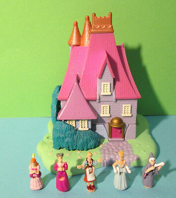 Polly Pocket Mini Disney ♥ Cinderella ♥ Stiefmutter Haus ♥ 5 Figuren ♥ 1995 ♥