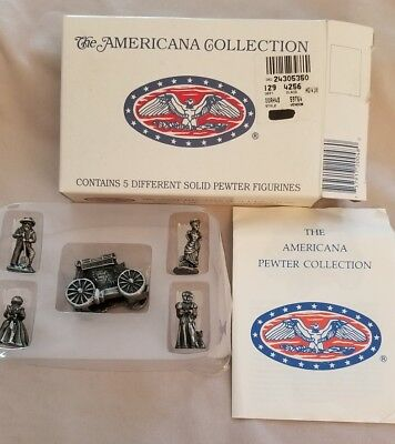 Liberty Falls Americana Collection Set of 5 Solid Pewter Figurines AH48