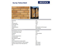 IB Stock Surrey Yellow Brand New Sealed Pack of 500 Facing Bricks